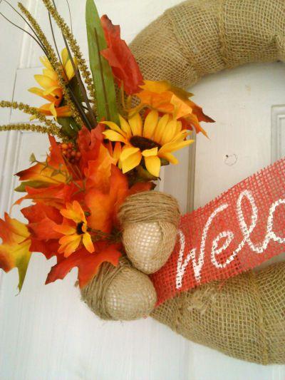 DIY Burlap Acorns for Fall