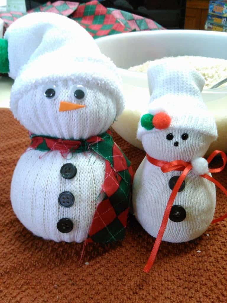 Cozy Amp Cute Sock Snowmen