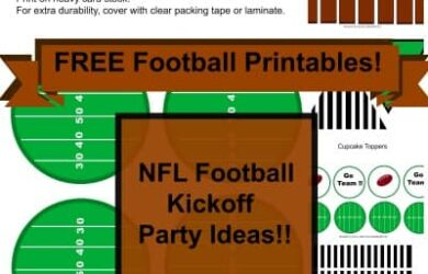 Gameday Printables