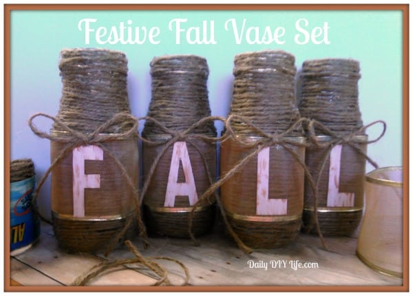 Festive Fall Vase Set - Daily DIY Life.com
