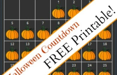 FREE Printable-Halloween Countdown-Daily DIY Life.com