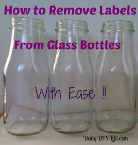 tuesday tips how to remove labels from glass bottles. Black Bedroom Furniture Sets. Home Design Ideas