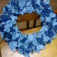 Denim Fabric Fall Wreath - Daily DIY Life.com