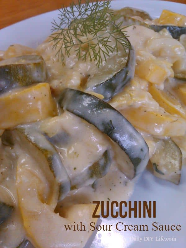 Zucchini with Sour Cream Sauce | DailyDIYLife.com