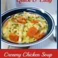 Quick & Easy Creamy chicken Soup - Daily DIY Life.com
