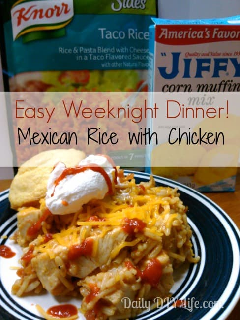 Quick & Easy Mexican Rice with Chicken: Daily DIY Life.com