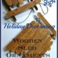 Holiday Decorating: Wooden Sled Ornaments - Daily DIY Life.com