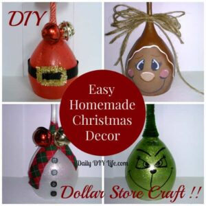Easy handmade Christmas Decor - DIY Dollar Store Craft! : dailydiylife.com