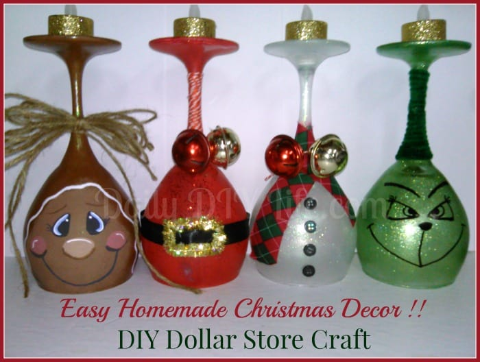 easy handmade christmas decor diy dollar store craft dailydiylifecom