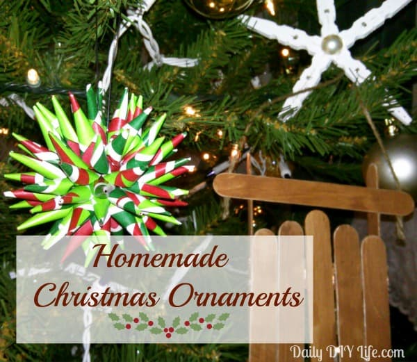 Holiday Decorating: Homemade Christmas Ornaments - Polish Star. Daily DIY Life.com