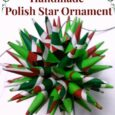 Holiday Decorating: Handmade Christmas Ornaments - Polish Star. Daily DIY Life.com