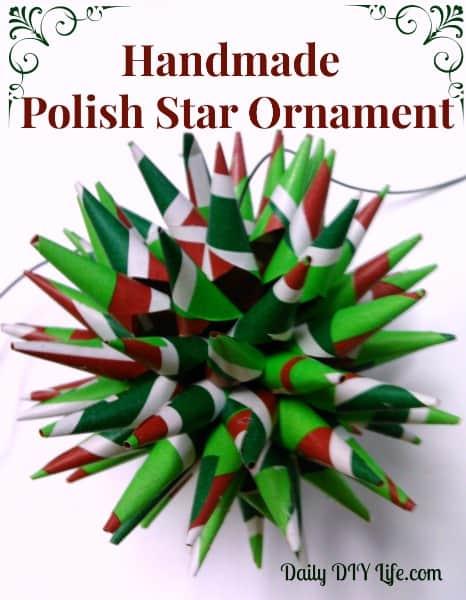 holiday decorating handmade christmas ornaments polish star daily diy lifecom