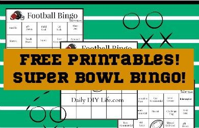picture relating to Free Printable Football Bingo Cards titled Tremendous Bowl Bingo! Pleasurable Absolutely free Printables for the Significant Activity!