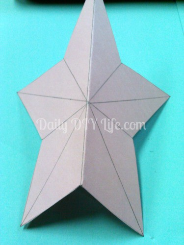 how to make 3d paper stars easy