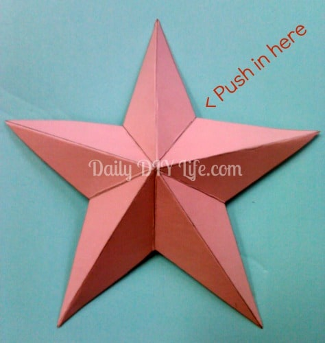 DIY Paper Craft 3D Stars Adorable And Easy Fun Idea