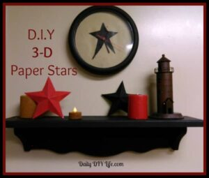 DIY Paper Craft! 3D Paper Stars Adorable (and easy) fun craft idea.