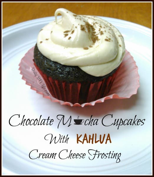Chocolate Mocha Cupcakes with Kahlua Cream Cheese Frosting - DailyDIYLife.com