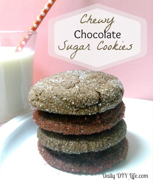 Chewy Chocolate Sugar Cookies! A Classic With A Twist!