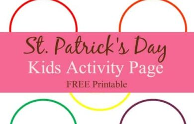 St. Patrick's Day Kids Activity page - Leprechaun Color Sorting : DailyDIYLife.com