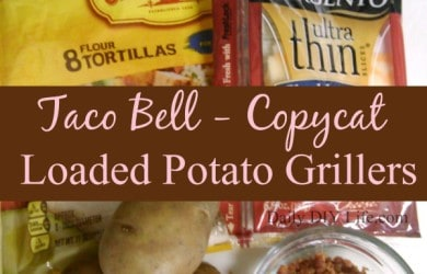 Taco Bell Copycat Recipe for Loaded Potato Grillers! DailyDIYLife.com