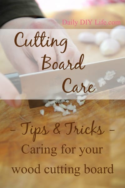 Tuesday Tips: Cutting Board Care - Tips and Tricks Caring for your wood cutting board.