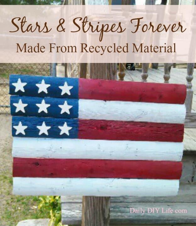 Stars Amp Stripes Forever Wooden American Flag Craft