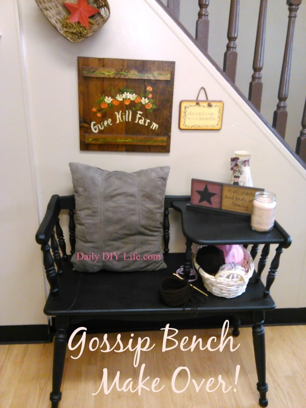Gossip Bench Make Over Trash To Treasure Dailydiylife Com