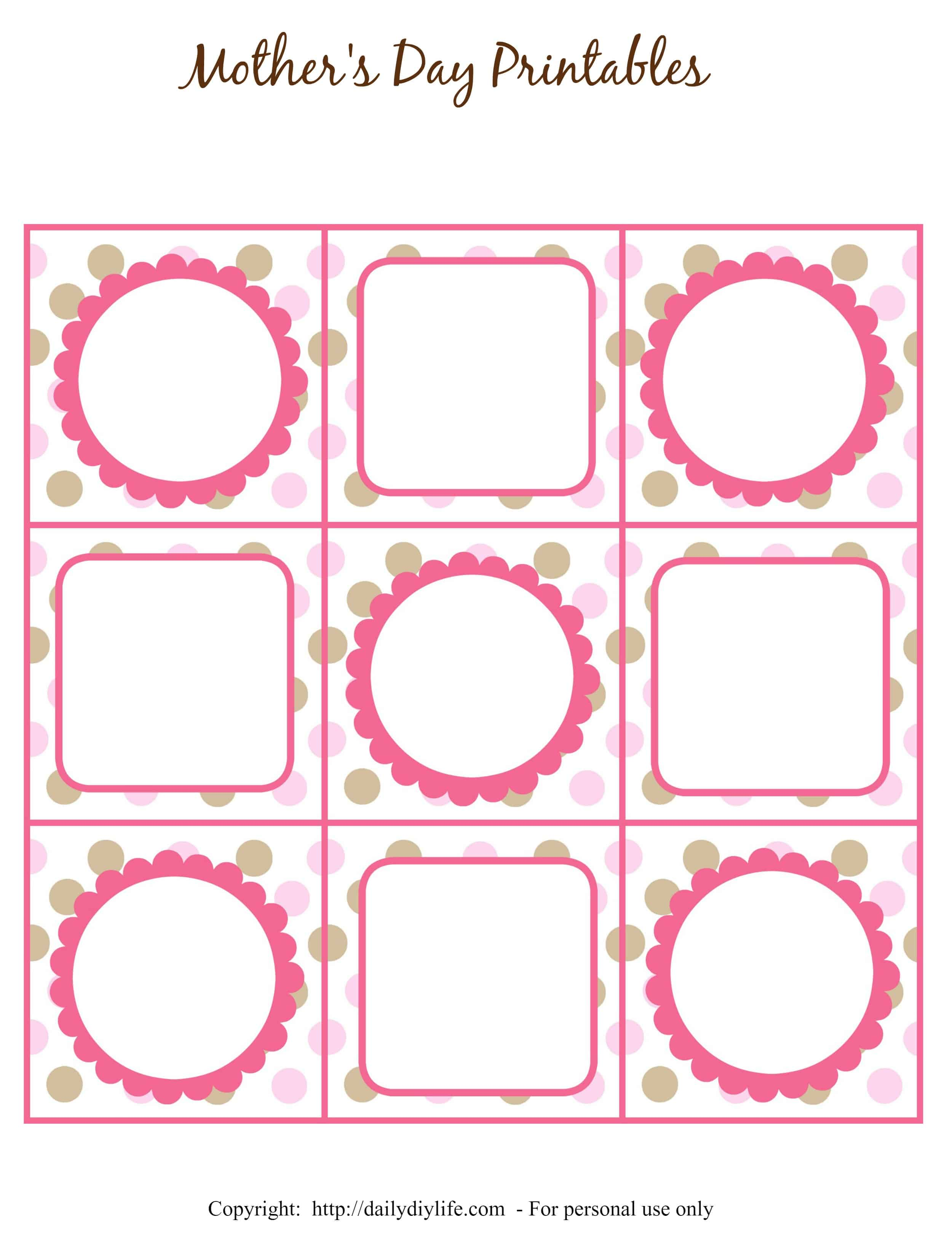 mother 39 s day free printable gift tags or cupcake toppers. Black Bedroom Furniture Sets. Home Design Ideas