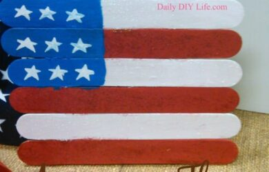 American Flag Easy Kids Craft! | DailyDIYLife.com