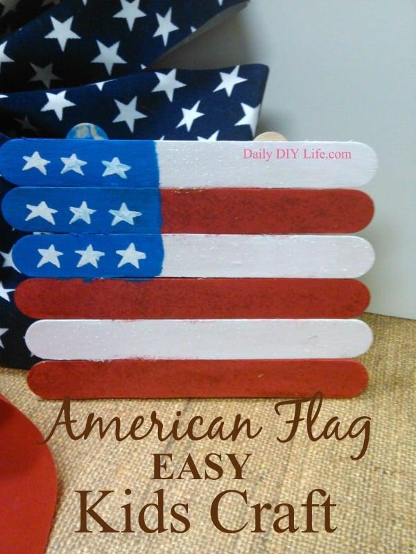 American Flag Easy Kids Craft! | DailyDIYLife.com