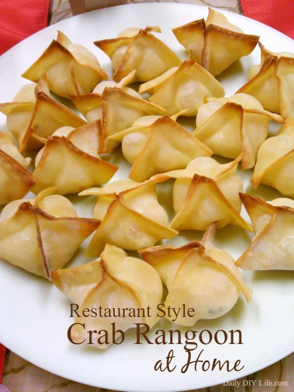 Restaurant Style Crab Rangoon at Home - BAKED not fried - DailyDIYLife.com