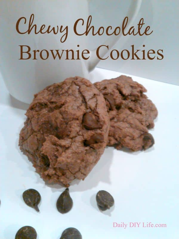 Chewy Chocolate Brownie Cookies! A Semi-Homemade Recipe from DailyDIYLife.com