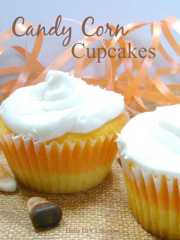 Super Cute Candy Corn Cupcakes!