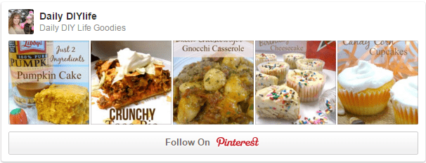 Follow Daily DIY Life on Pinterest!