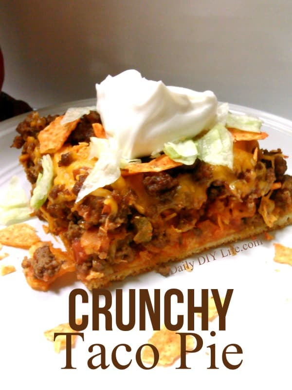 Crunchy Taco Pie Recipe - An easy meals recipe perfect for any busy weeknight or game day celebration: DailyDIYLife.com
