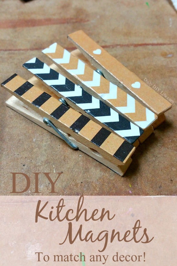 DIY Kitchen Magnets to match any decor. Simple and affordable, these easy magnets are perfect for gift giving and craft fair projects. | DailyDIYLife.com