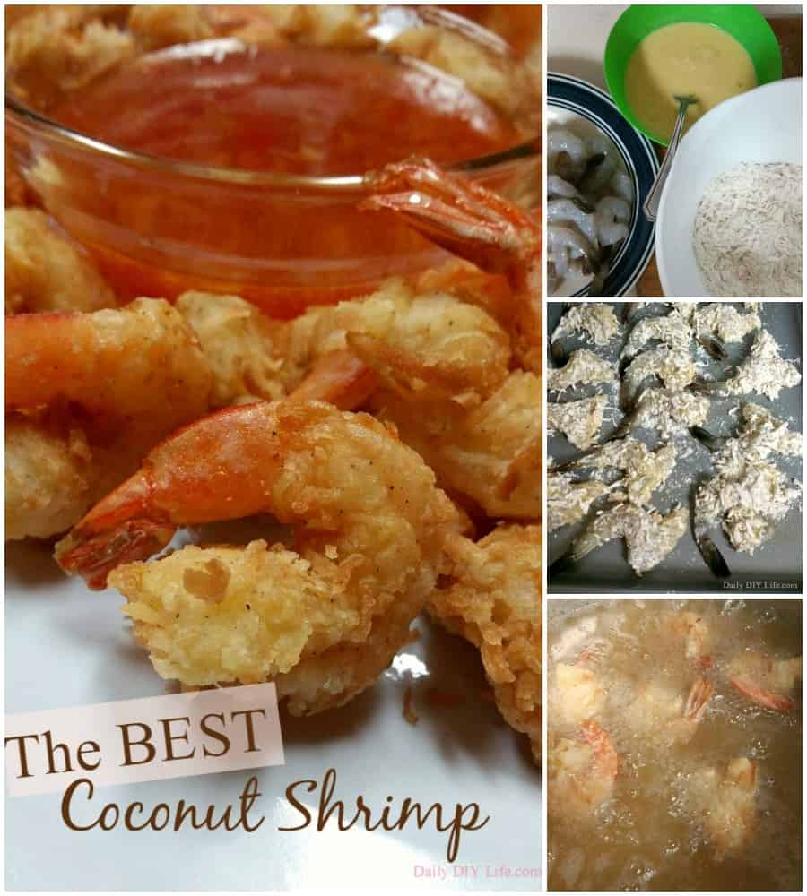 The BEST Coconut Shrimp I have ever made! Served with a sweet and spicy orange dipping sauce. Crunchy, sweet and delicious every time! | DailyDIYLife.com