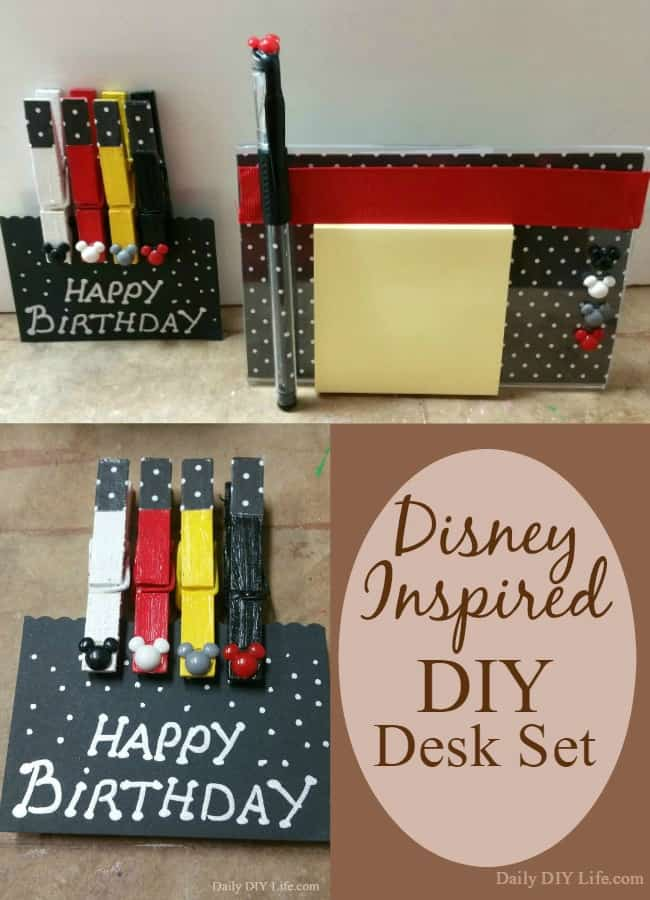 Disney Inspired Diy Desk Set The Perfect Gift For All Fans Young And Old