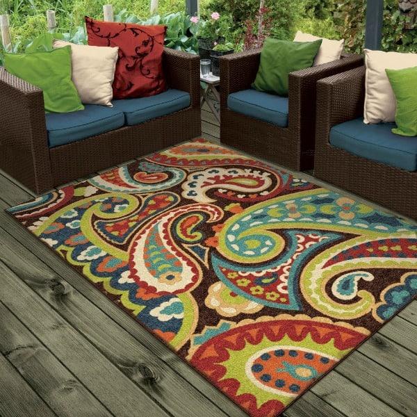 Indoor Outdoor Paisley Area Rug!