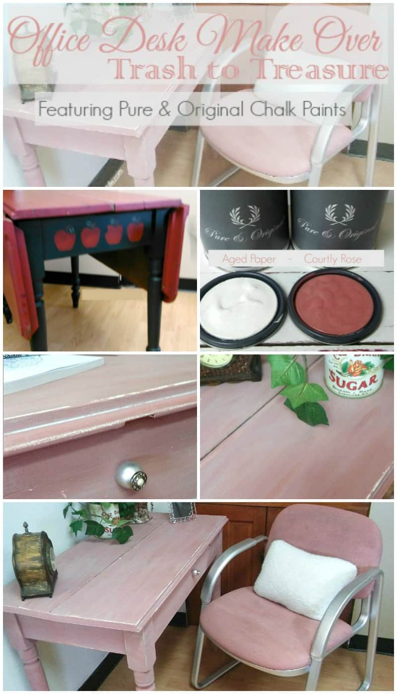 An elegant Office Desk Makeover featuring Pure & Original Chalk Paint! #FabFlippinContest