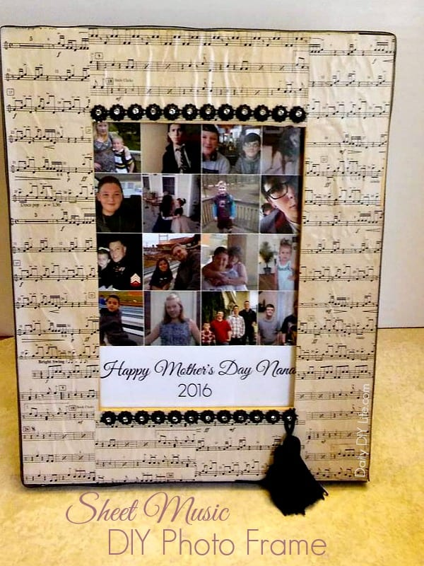 An easy and fun project using old sheet music. Make this fun DIY Photo Frame in no time. A great gift for that special someone to #ShareMemories #Ad @GiantEagle