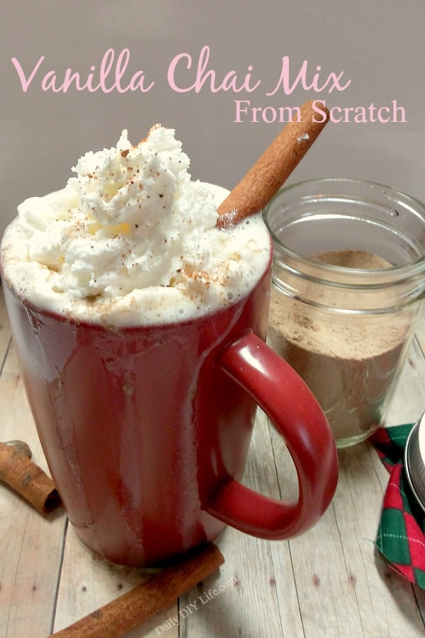 Homemade Vanilla Chai Mix From Scratch! Perfect for those cool fall evenings and great for