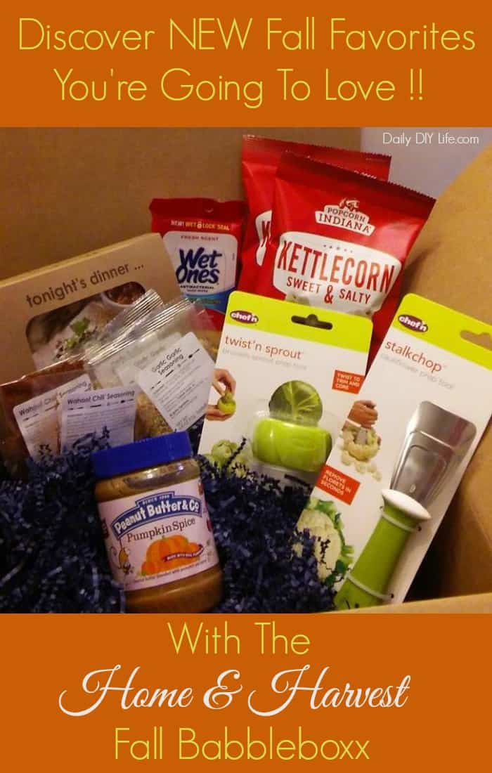 Discover NEW Fall Favorites you're going to LOVE with Babbleboxx! #BabbleboxxFall #Babbleboxx #ad | Featuring products from @Peanutbutterco @tastefullysimpl @chefncorp @popcornindiana and WetOnes!