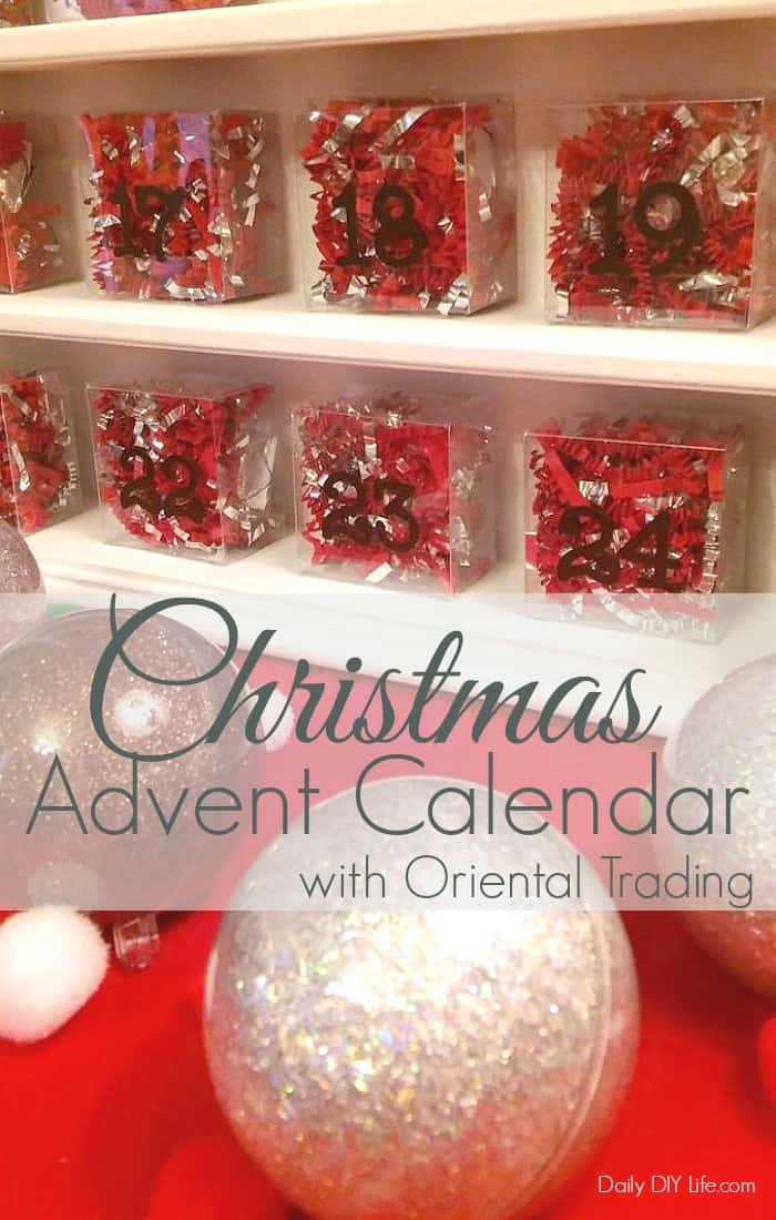 Christmas Countdown Advent Calendar made easy with a little help from Oriental Trading!