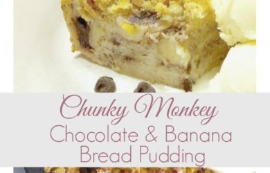 Sweet and Decadent Chocolate and Banana Bread Pudding! Perfect snack for any night of the week. Ripe bananas and sweet chocolate add that extra something! #AD #SingWithPost #CerealAnytime