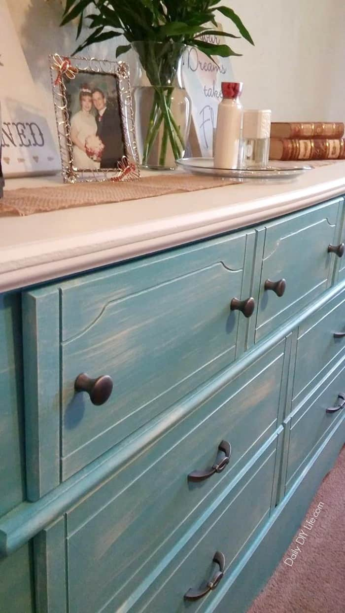 When we got this dresser for free, it needed lots of TLC. Take a look at how this Painted Dresser was restored from boring to beautiful.