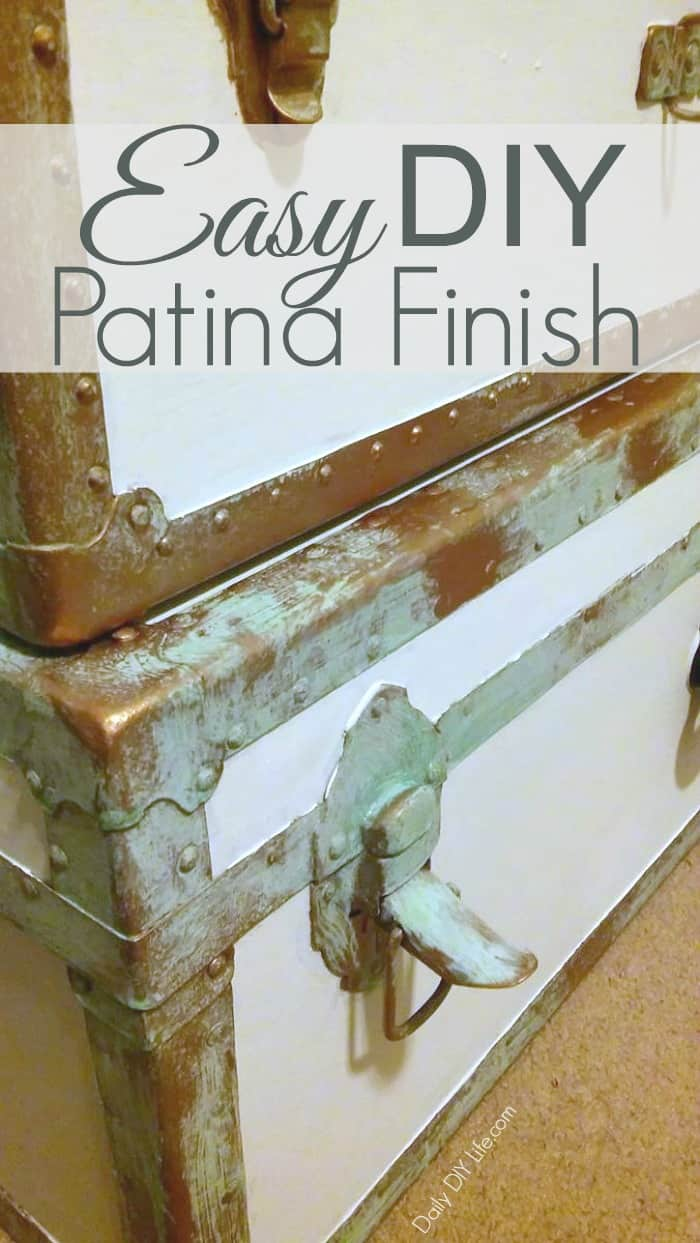 We turned these old worn out trunks beautiful again with an easy new patina finish in just one day. #Sponsored #ModernMasters #Patina