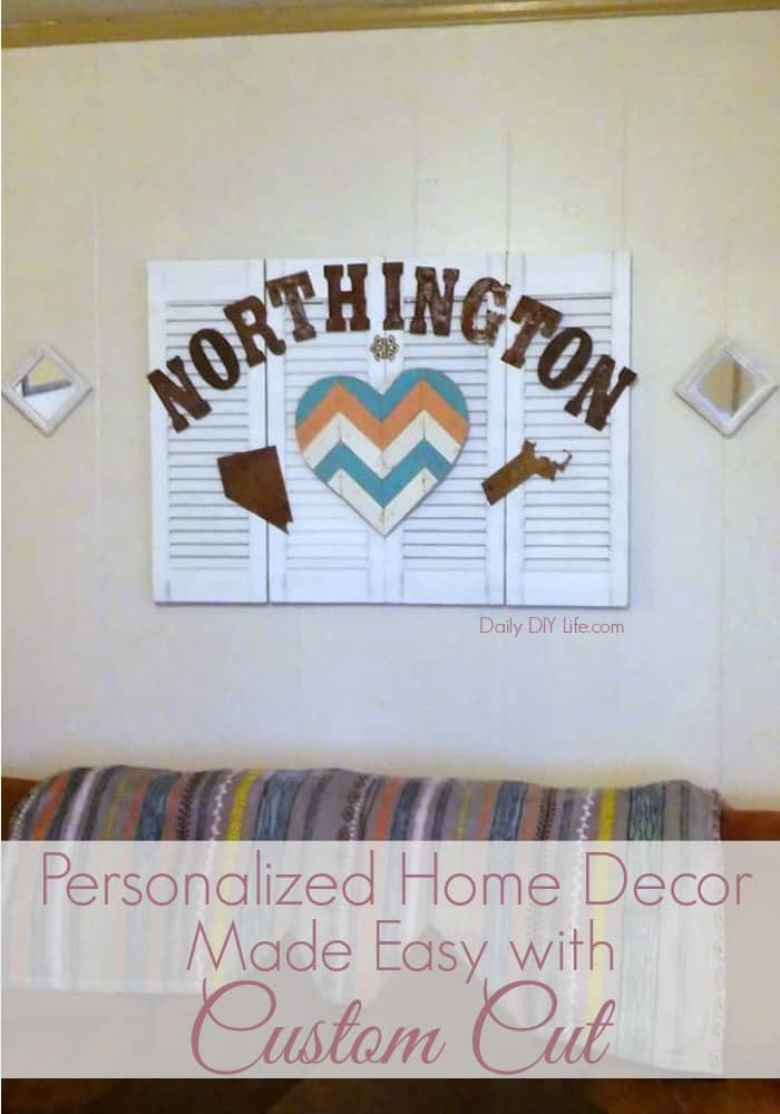 Personalized Home Decor Made Easy With Custom Cut Rustic Lettering. It is as easy as hammering a few nails. Stop by and check out these beautiful products.