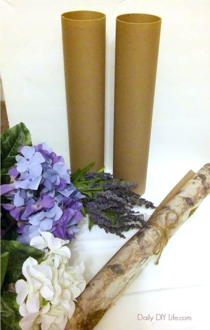 Let me show you how you can create this beautiful DIY Birch Wood Vase quickly and easily, using fantastic flowers and faux Birch Bark from Afloral.com #Sponsored #AFloral #DIYBirchWood