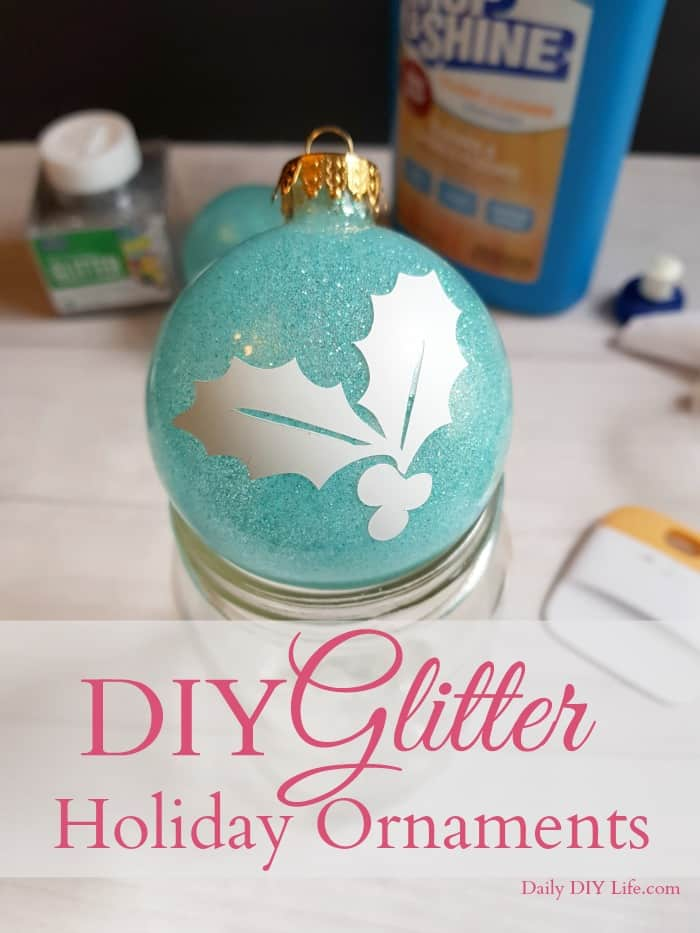 Looking to add a little dazzle and shine to your decor this year? Try making your own DIY Glitter Ornaments. Perfect for Christmas or any Special Holiday!